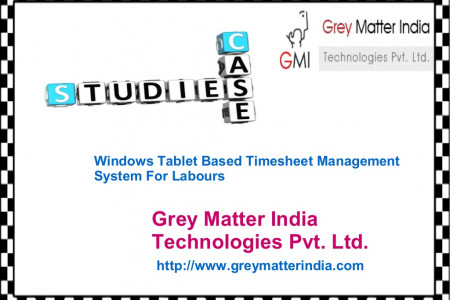 Case Study On Windows Tablet Based Timesheet Management System For Labours Infographic