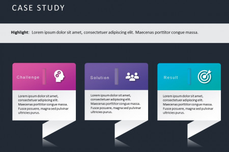 Case Study Powerpoint Template Infographic