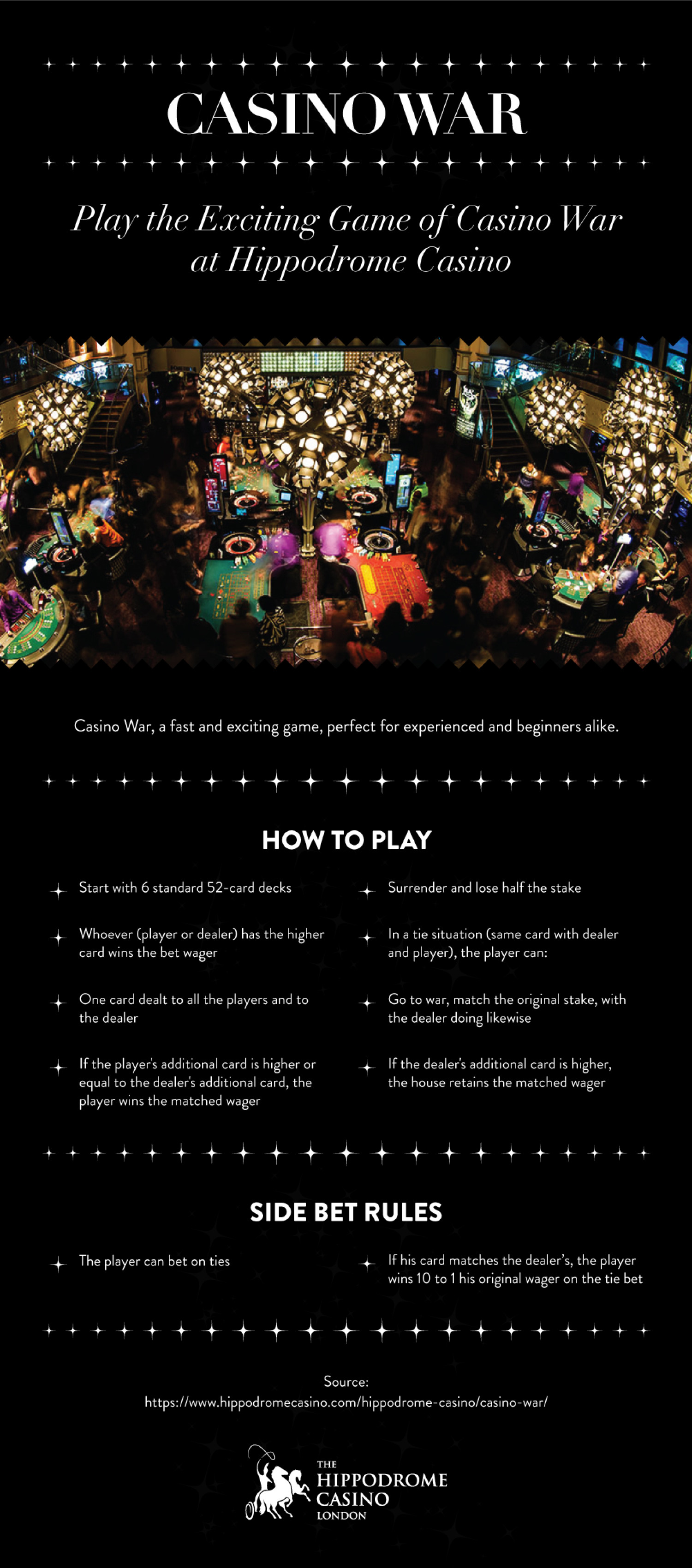 Casino War - Perfect for beginners and experienced players alike Infographic