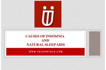 Causes of Insomnia and Natural Sleep Aids Infographic