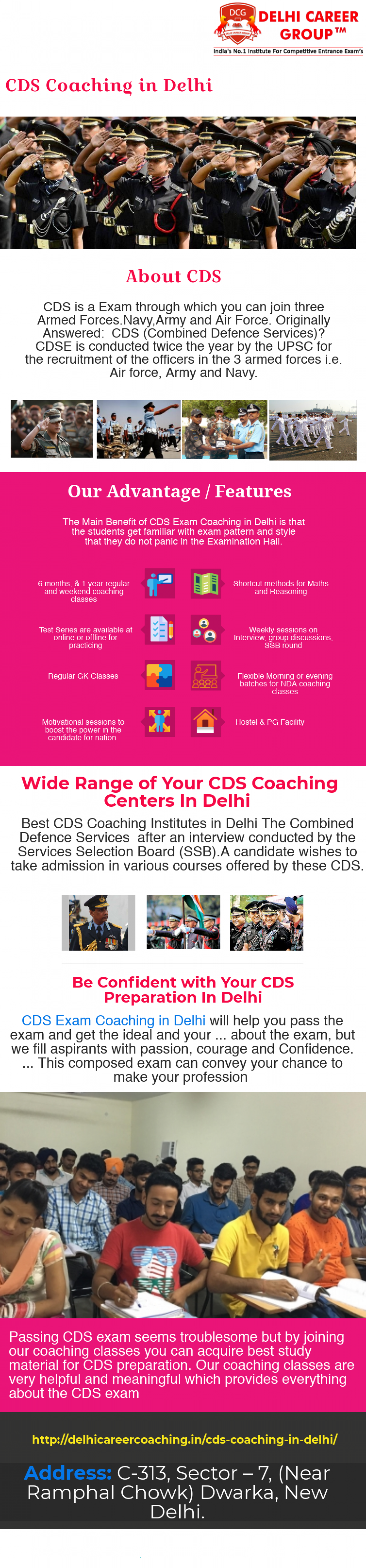CDS Coaching in Delhi Infographic