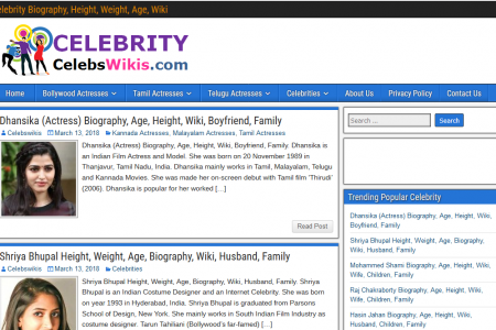 Celebrity Biography, Wiki, Age | CelebsWikis.com Infographic