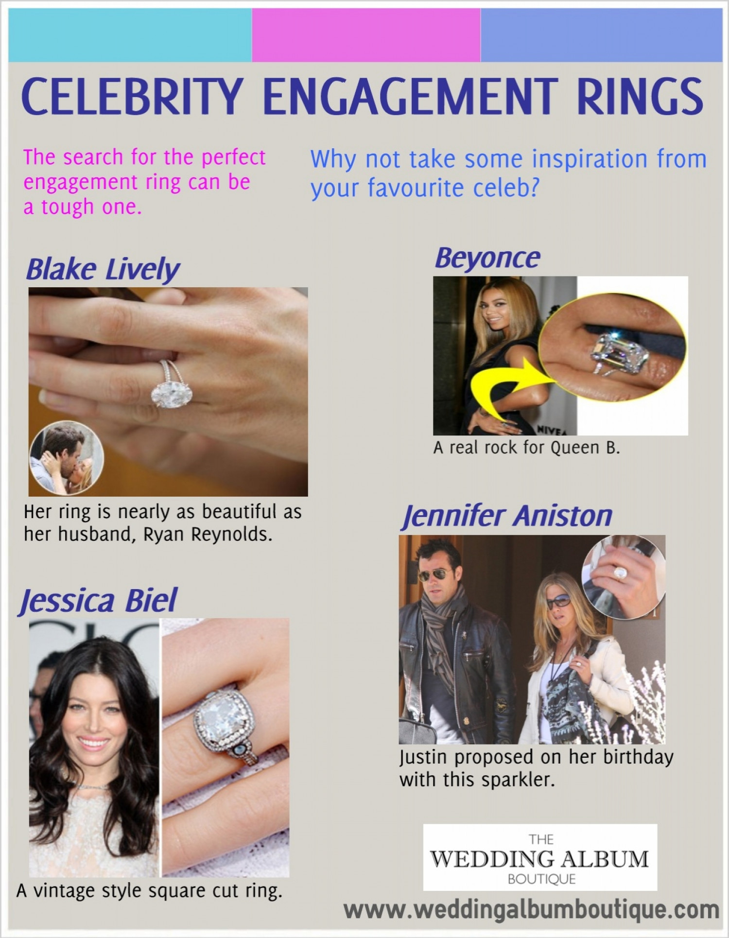 Celebrity Engagement Rings Infographic