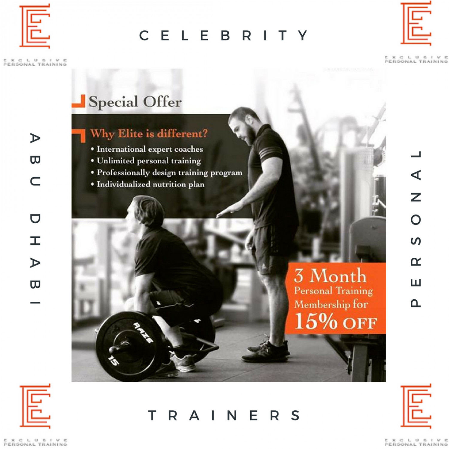 Celebrity Personal Trainer Infographic