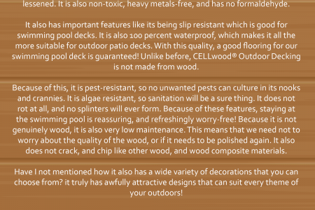CELLwood® for Your Swimming Pool and Outdoor Patio Deck Infographic