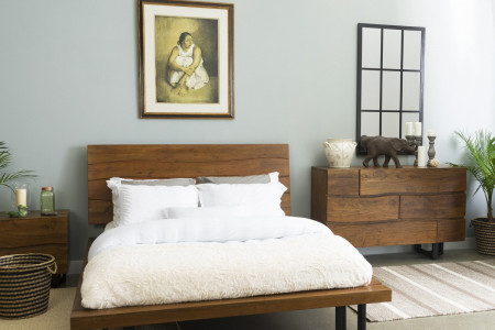 Century Dark Walnut 3 PC King Bedroom Set Infographic