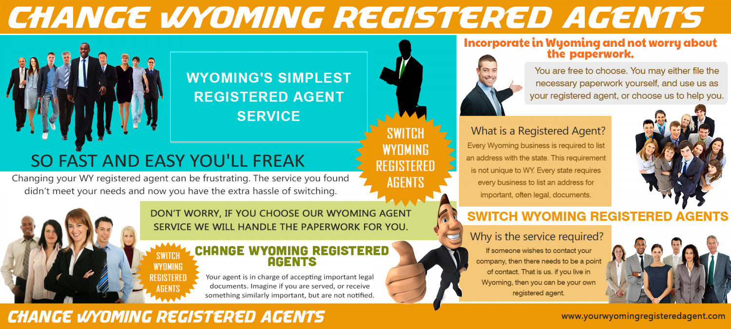 Change Wyoming Registered Agents Infographic