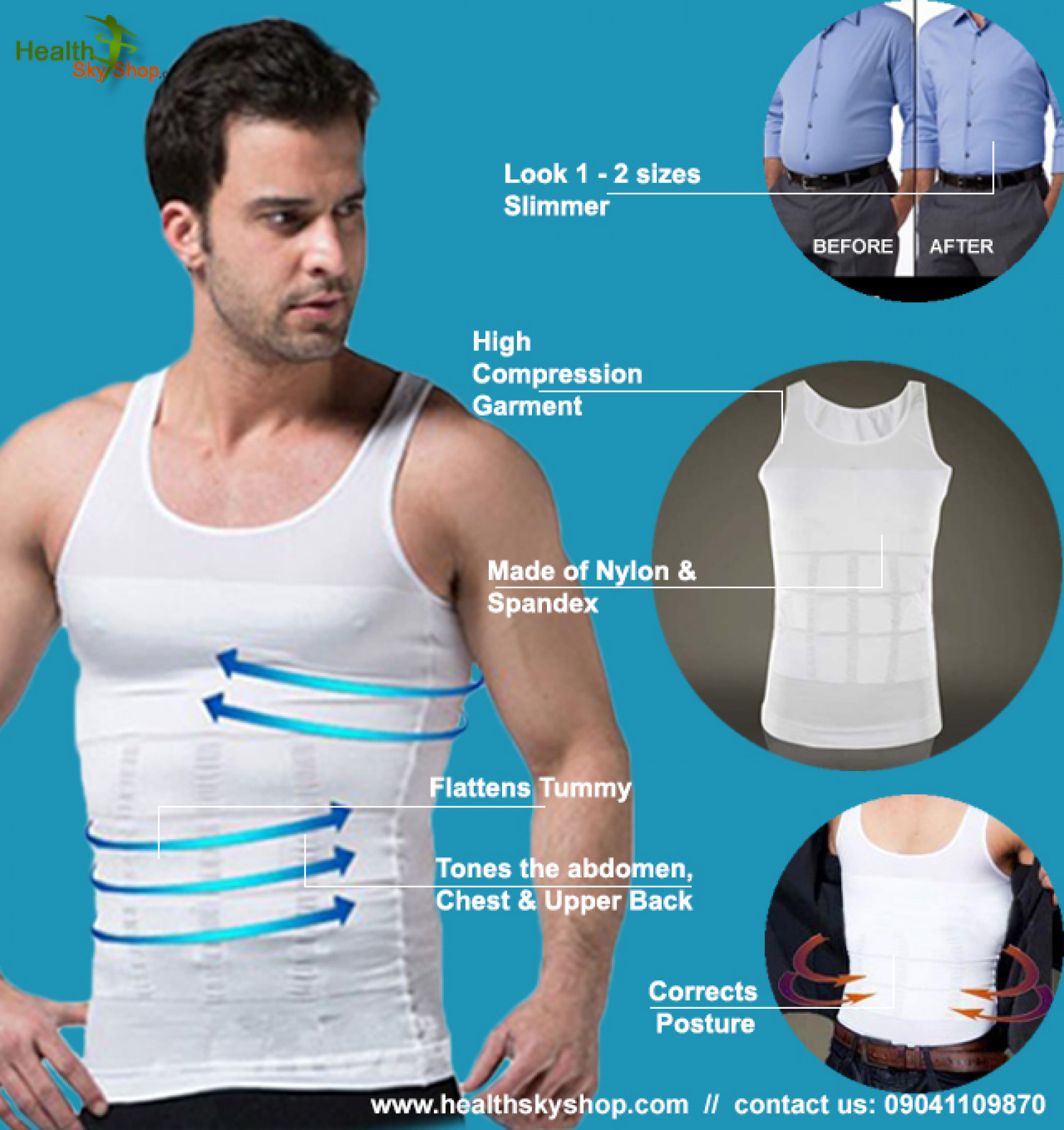 ebe45259a6461 Change Your Life With Men Body Shaper Infographic