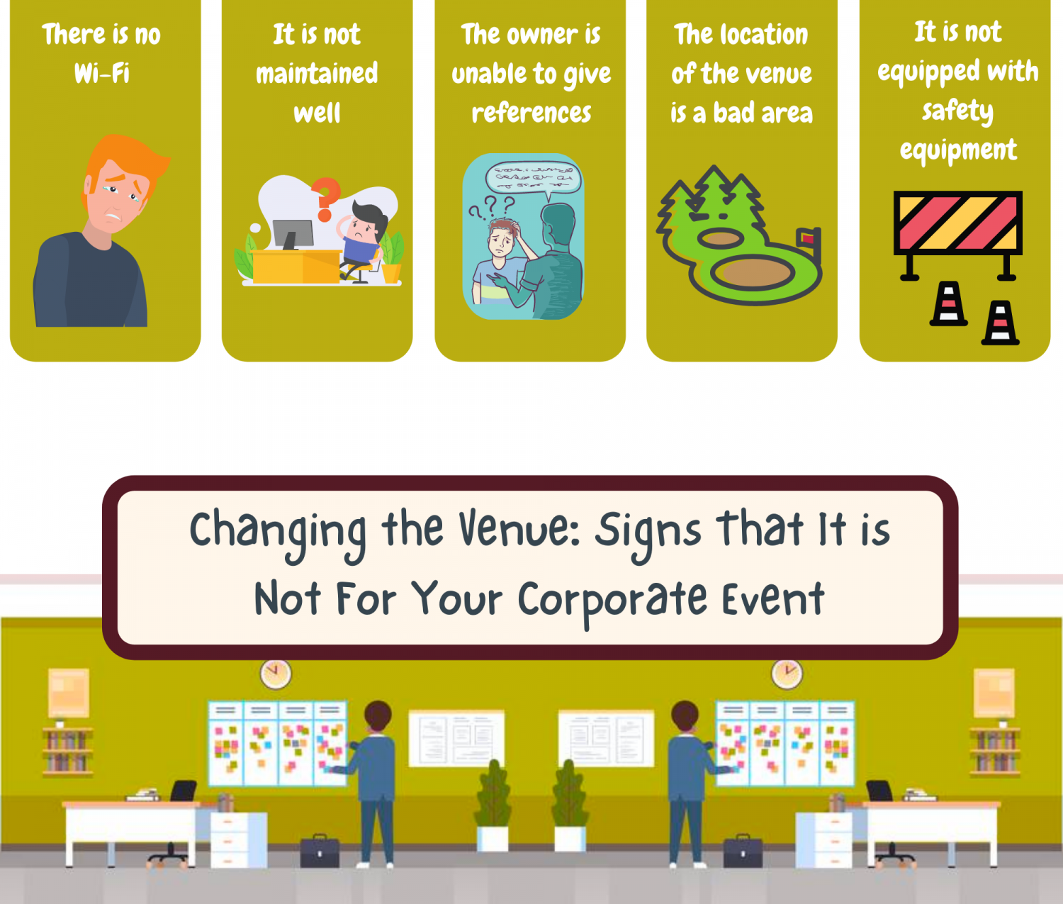 Changing the Venue: Signs That It is Not For Your Corporate Event Infographic