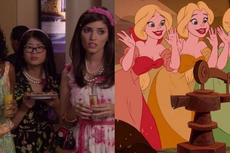 Characters of Gossip Girl & Their Disney Counterparts Infographic