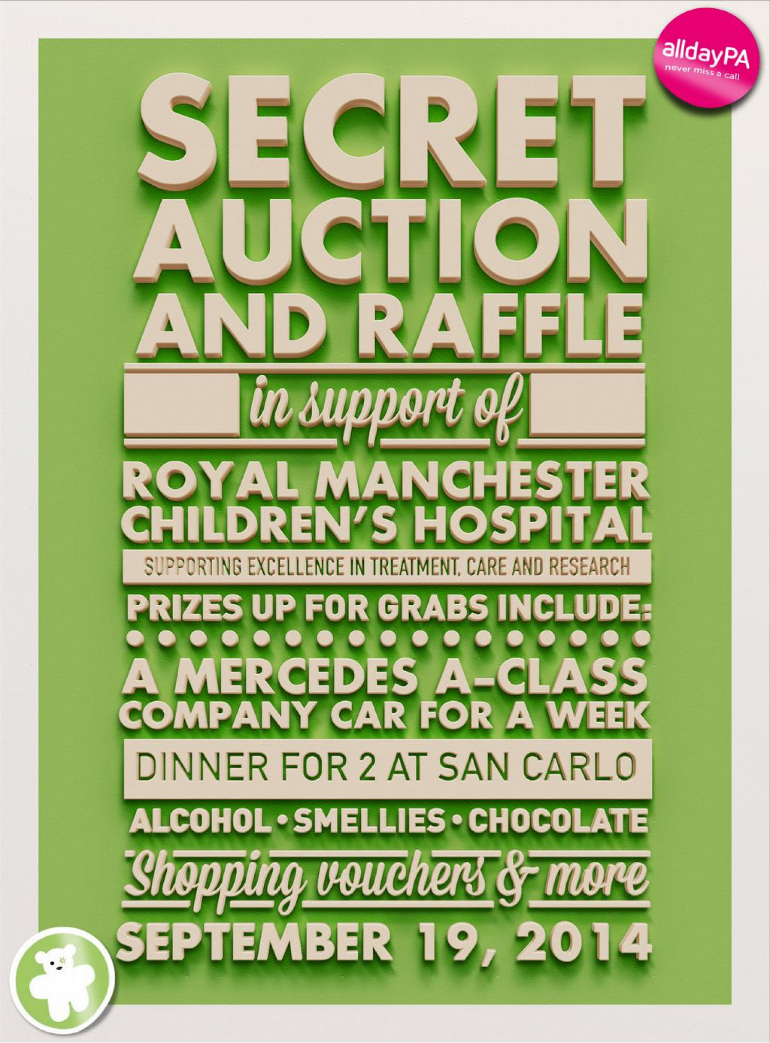 Charity Fundraiser: The Secret Auction Infographic