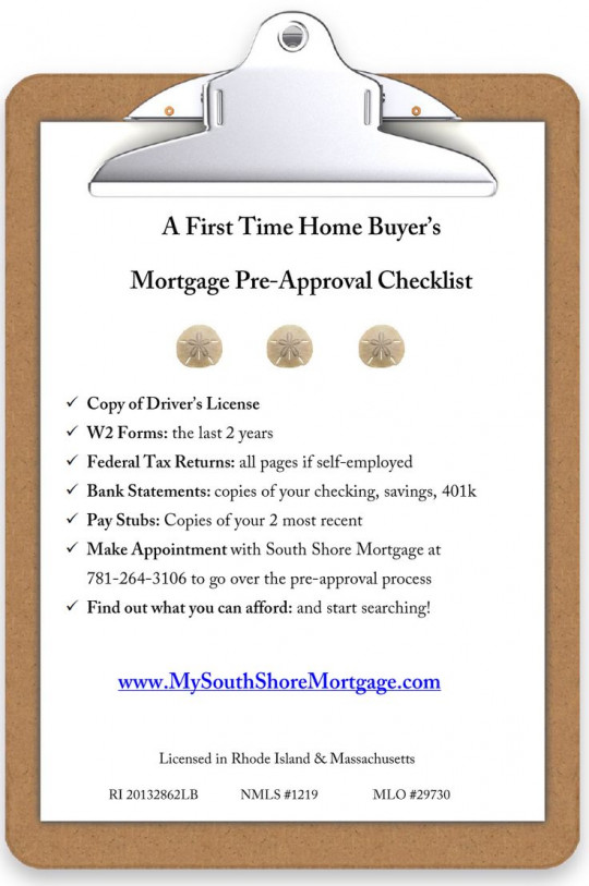 Checklist for the First Time Home Buyer