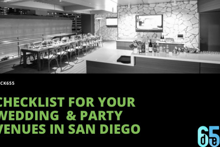 Checklist For Your Wedding  & Party Venues in San Diego Infographic