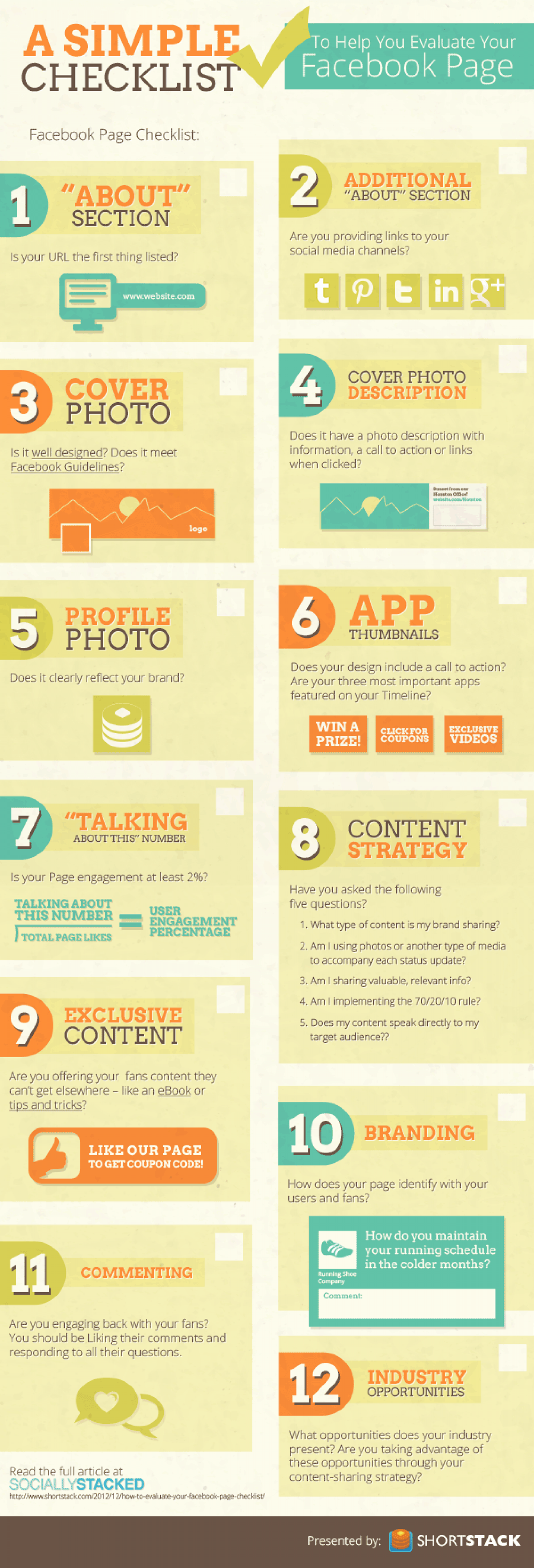 Checklist to help you Evaluate your Facebook Page Infographic