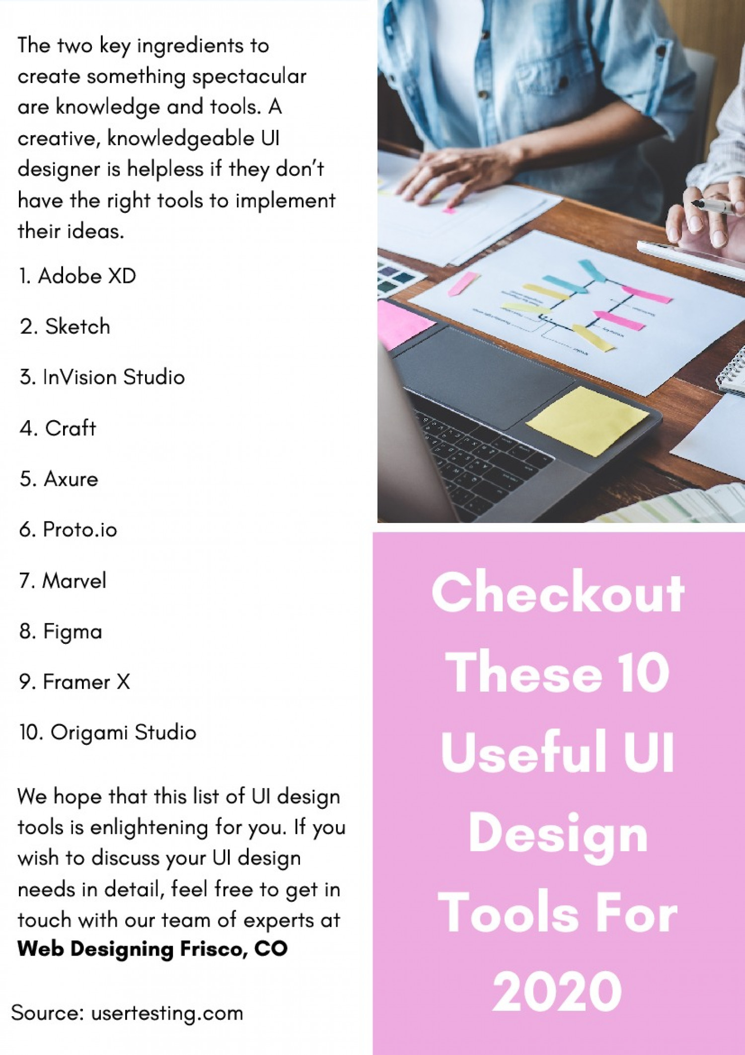 Checkout These 10 Useful UI Design Tools For 2020 Infographic