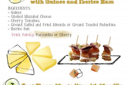 Cheese Montaditos and Pintxos Infographic