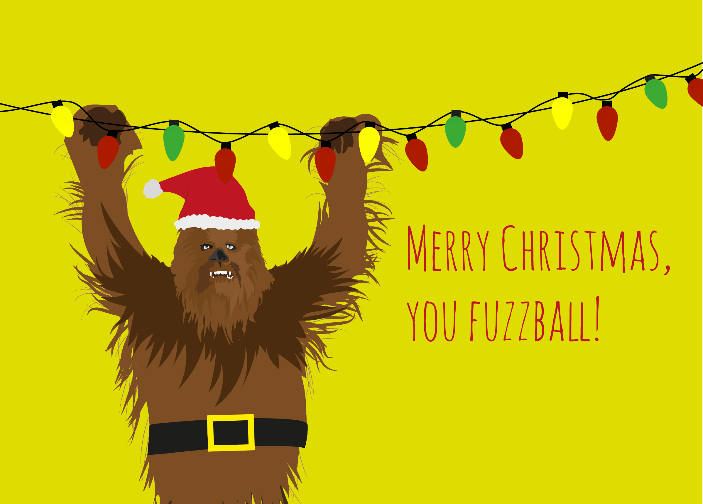 Chewbacca Christmas Card- Star Wars Infographic Ecard | Visual.ly