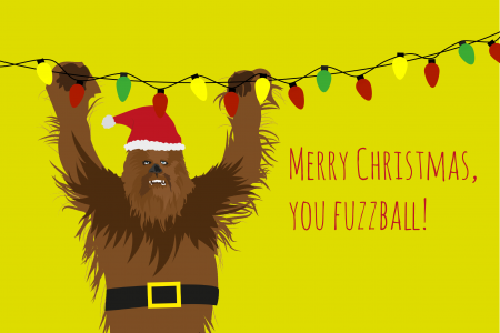 Chewbacca Christmas Card- Star Wars Infographic Ecard Infographic