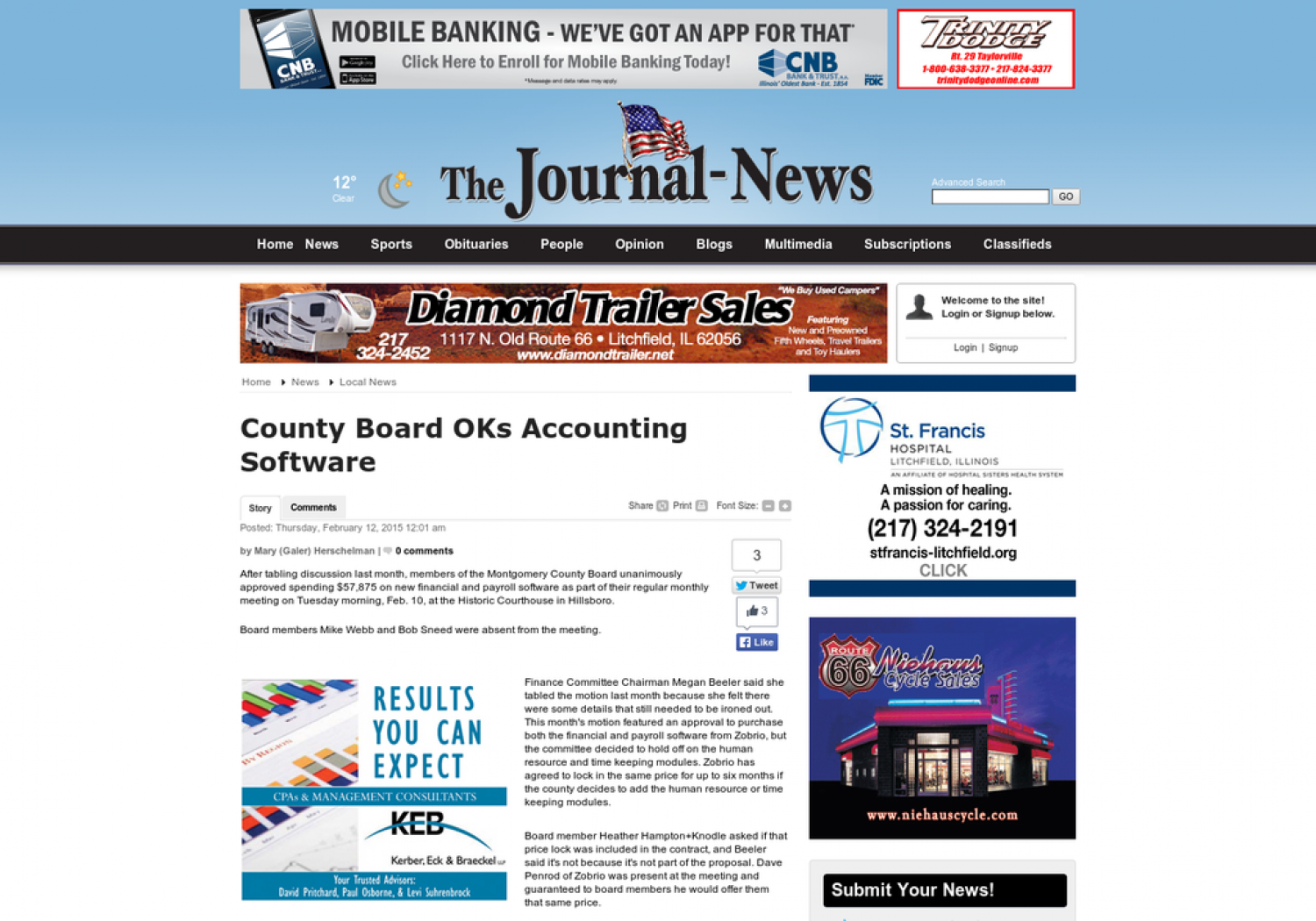 Cheyney Group Accounting Software Review: County Board OKs