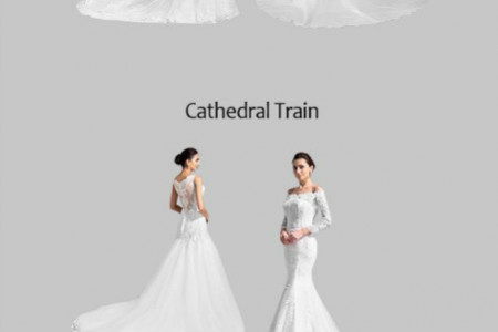 Chic Wedding Dresses With Train Infographic