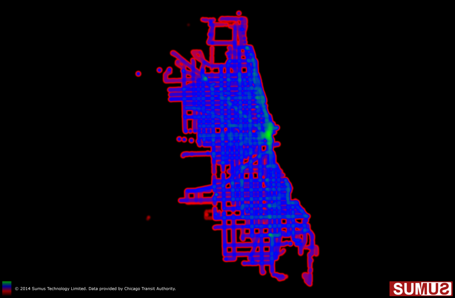 Chicago Transit Authority (CTA) Coverage Map: May 28th, 2014 Infographic