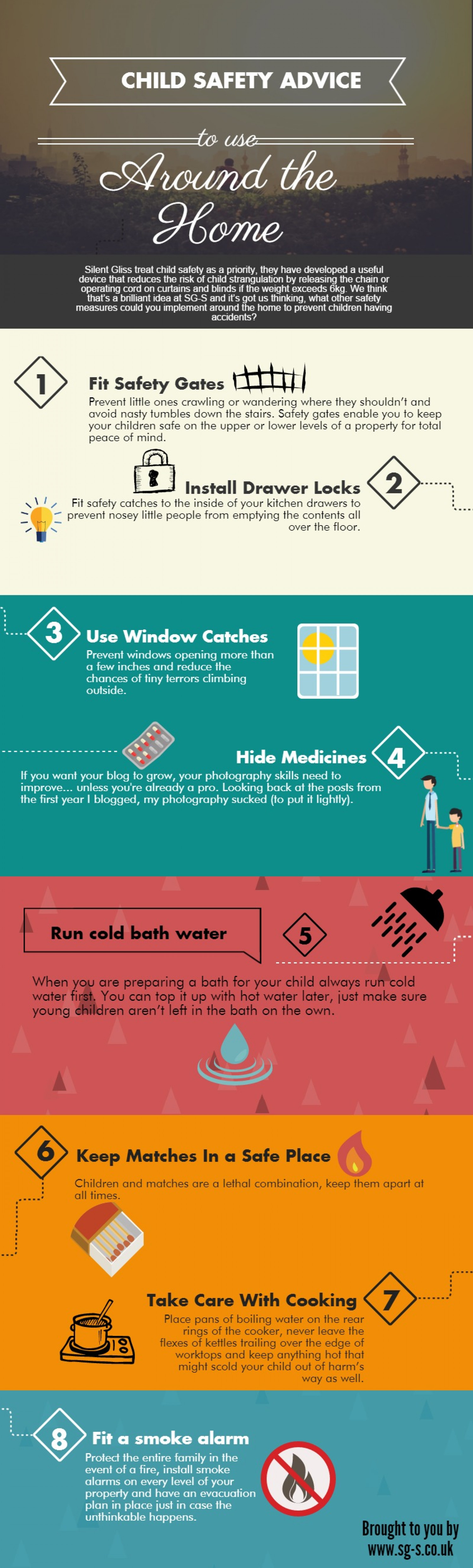 Child Safety Advice For Around The Home Infographic