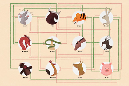 Chinese New Year Sign Drink Compatibility Chart Infographic