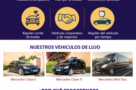 Chofer privado para transfers en Barcelona Infographic
