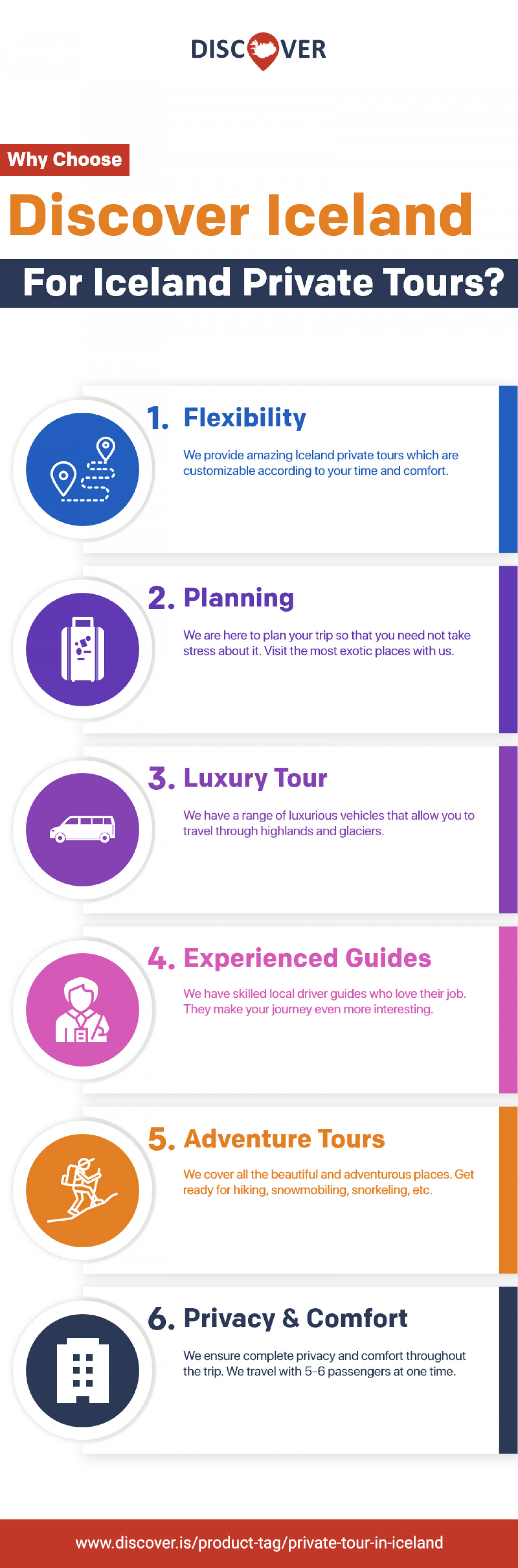 Choose Discover Iceland for Iceland Private Tours Infographic