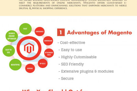Choose Magento for an Efficient & Feature Rich Online Store Infographic
