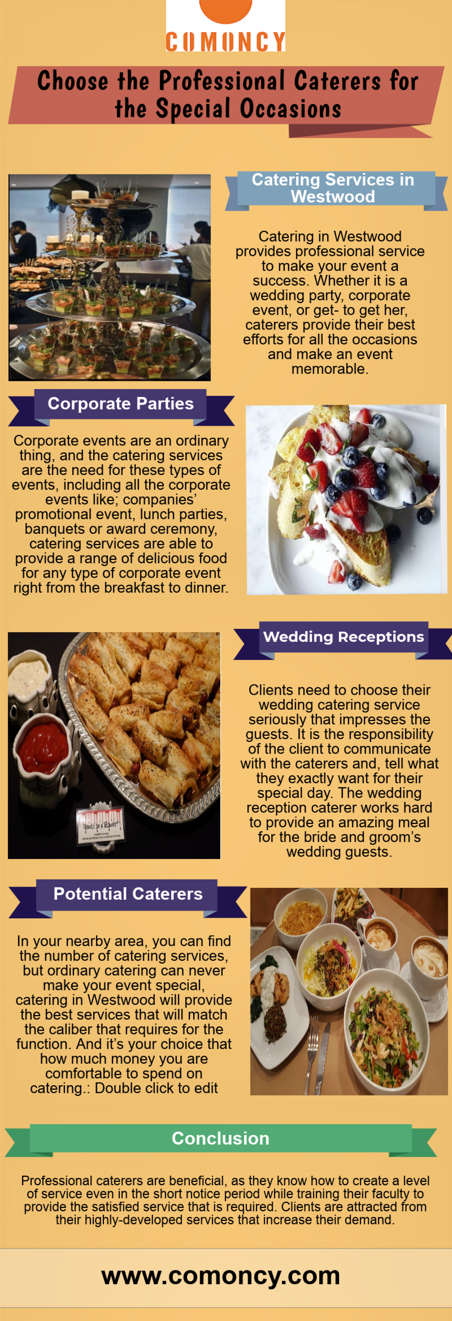 Choose the Professional Caterers for the Special Occasions Infographic