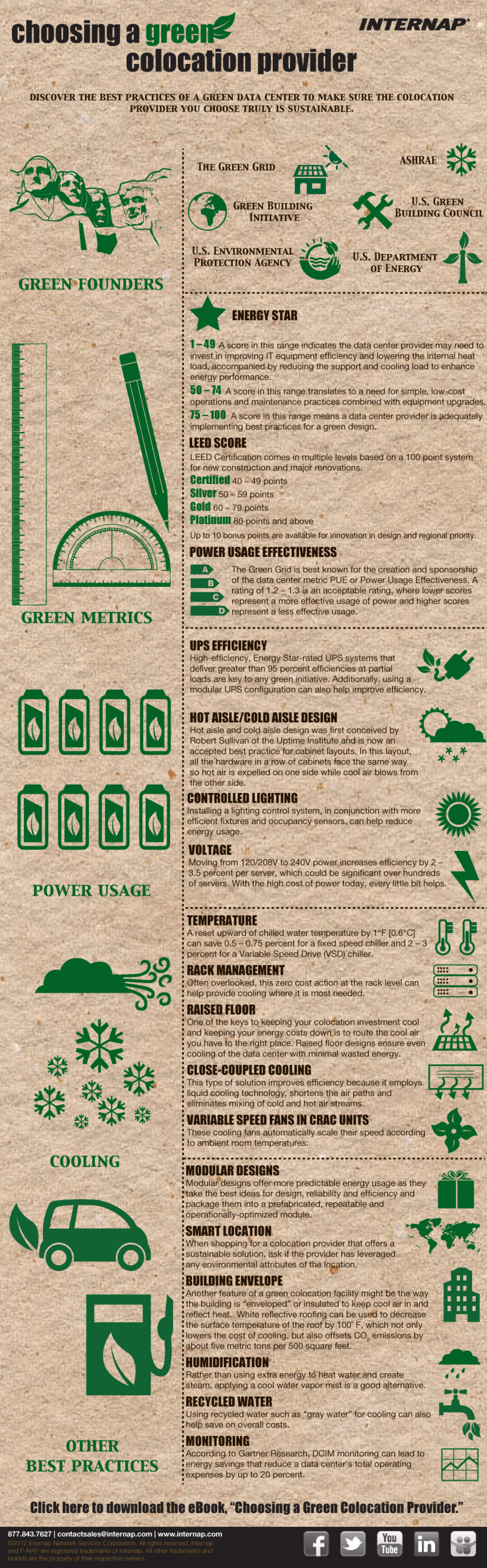 Choosing a green colocation provider Infographic