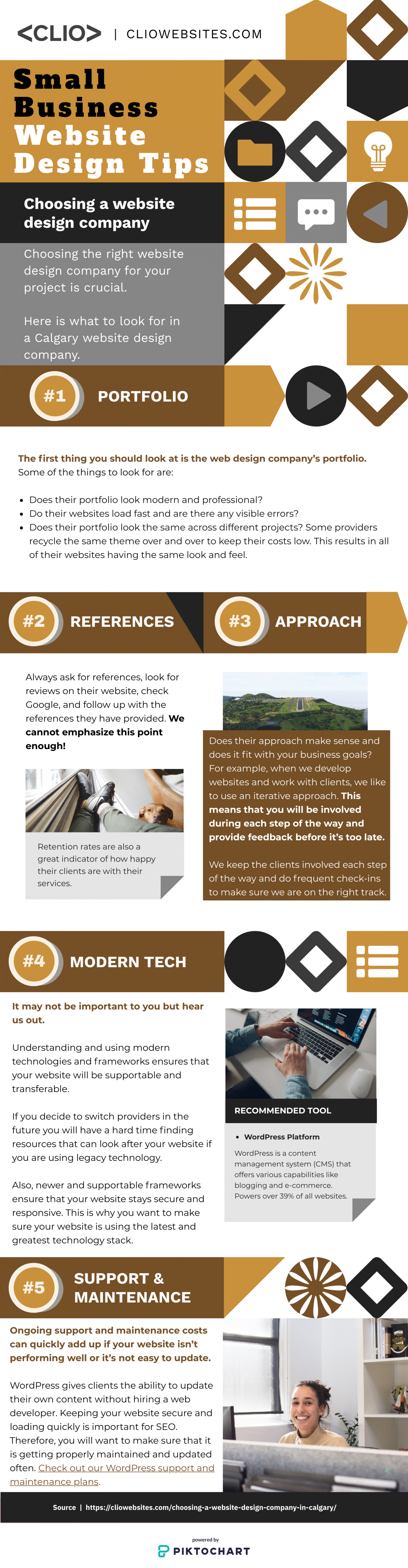 Choosing a website design company in Calgary Infographic