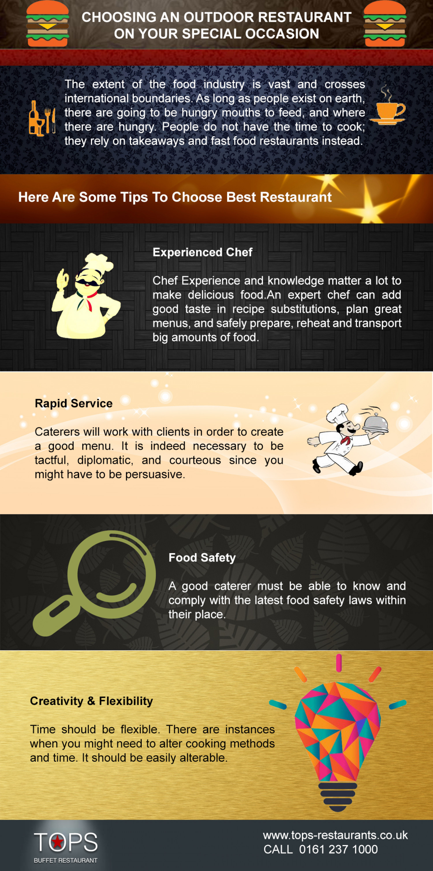 Choosing An Outdoor Restaurant On Your Special Occasion  Infographic