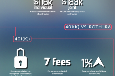 Choosing Between a 401(k) or a Roth IRA Infographic
