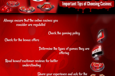 Choosing Online Casinos for Unbridled Gaming Enjoyment Infographic