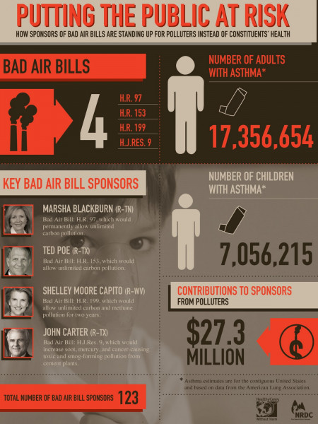 Choosing Polluters Over Children's Health Infographic