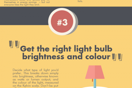 Choosing the Right Lightbulb Infographic