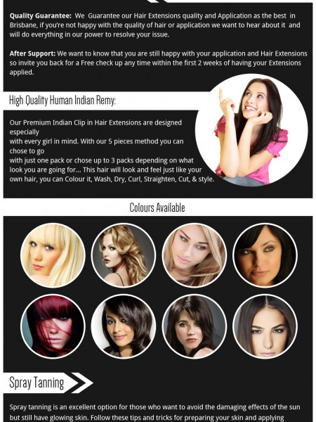Choosing your Hair Extensions Infographic