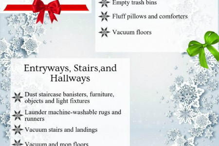 Christmas Cleaning Checklist Infographic