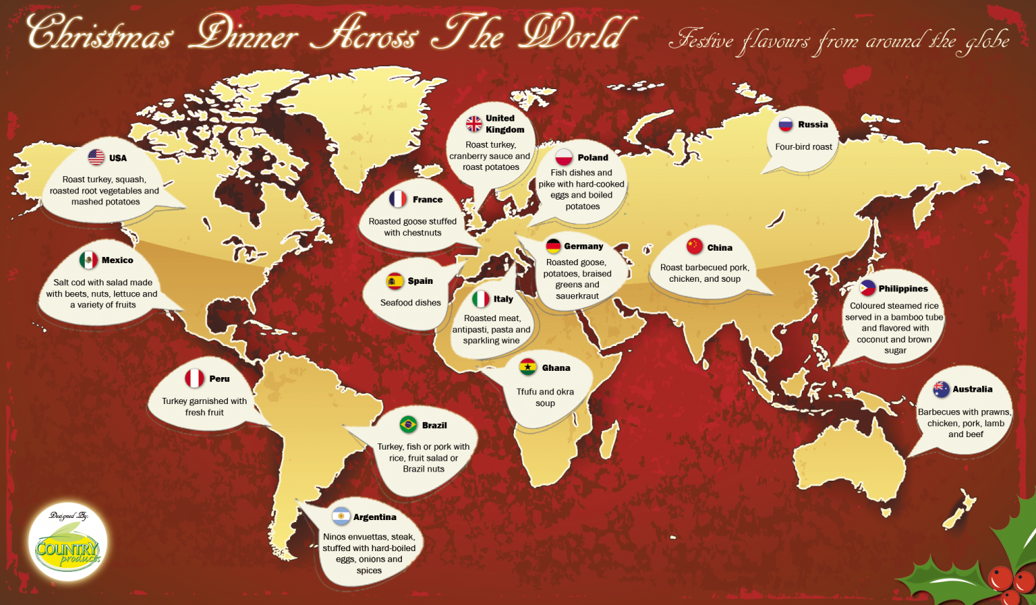 Christmas Dinner Across The World | Visual.ly