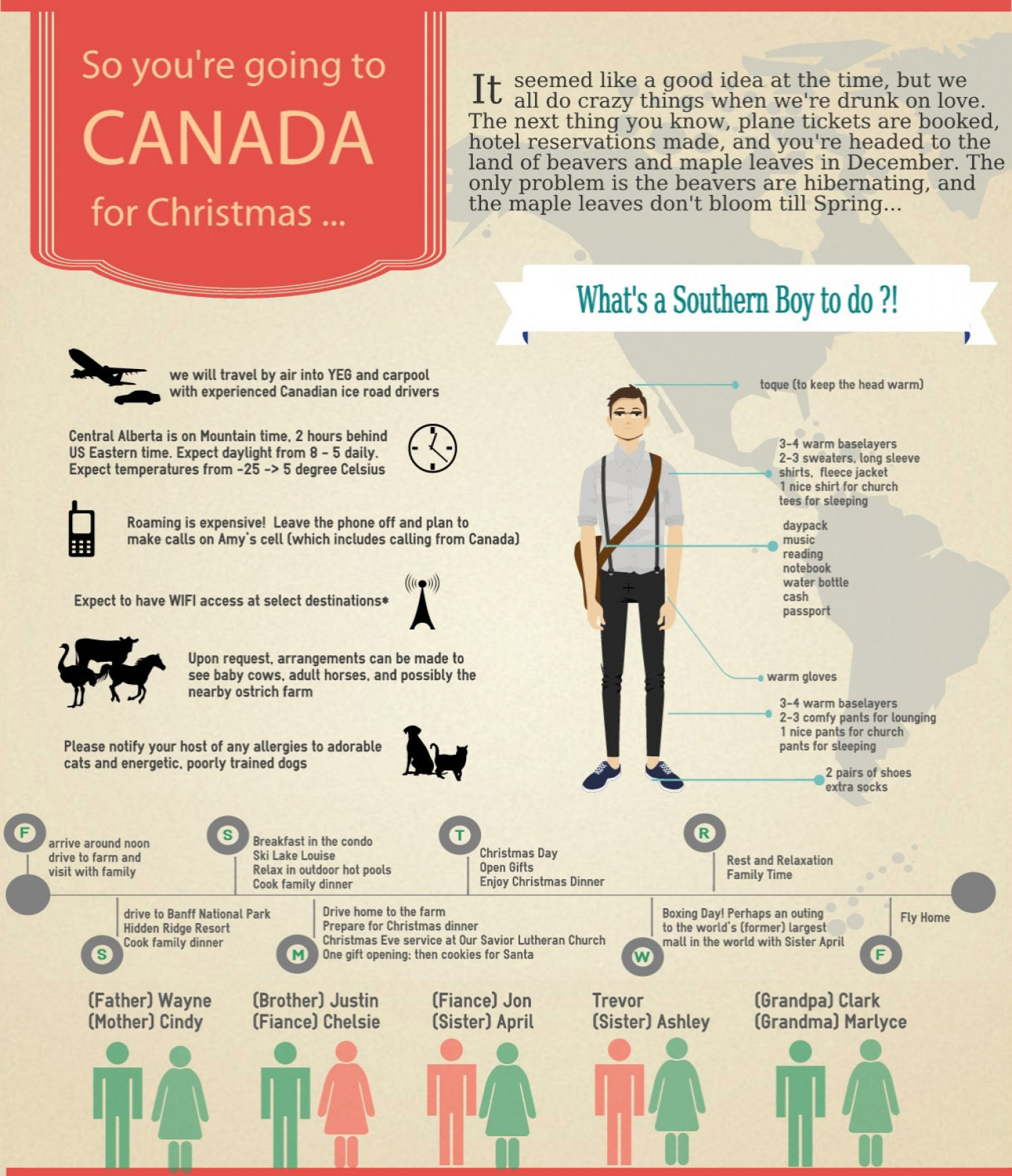 Christmas in Canada Infographic