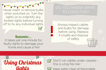 Christmas Light Checklist Infographic
