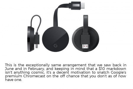 Chromecast Download - Discounted Chromecast Ultra for $59 Infographic