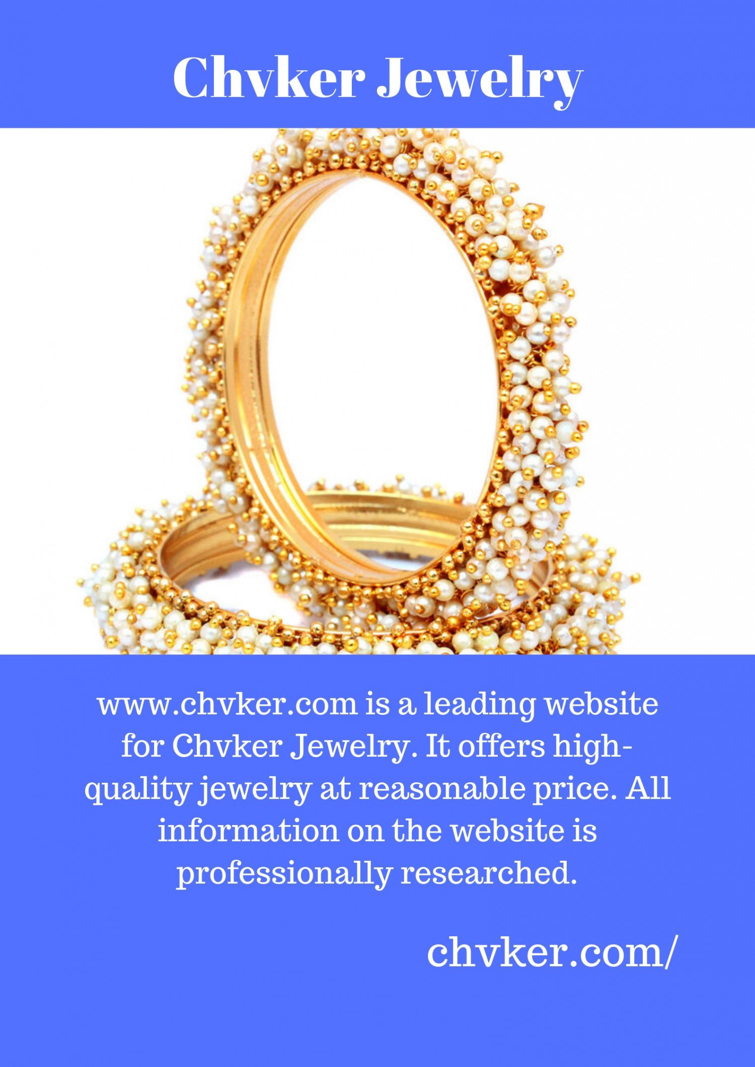 Chvker Jewelry Infographic