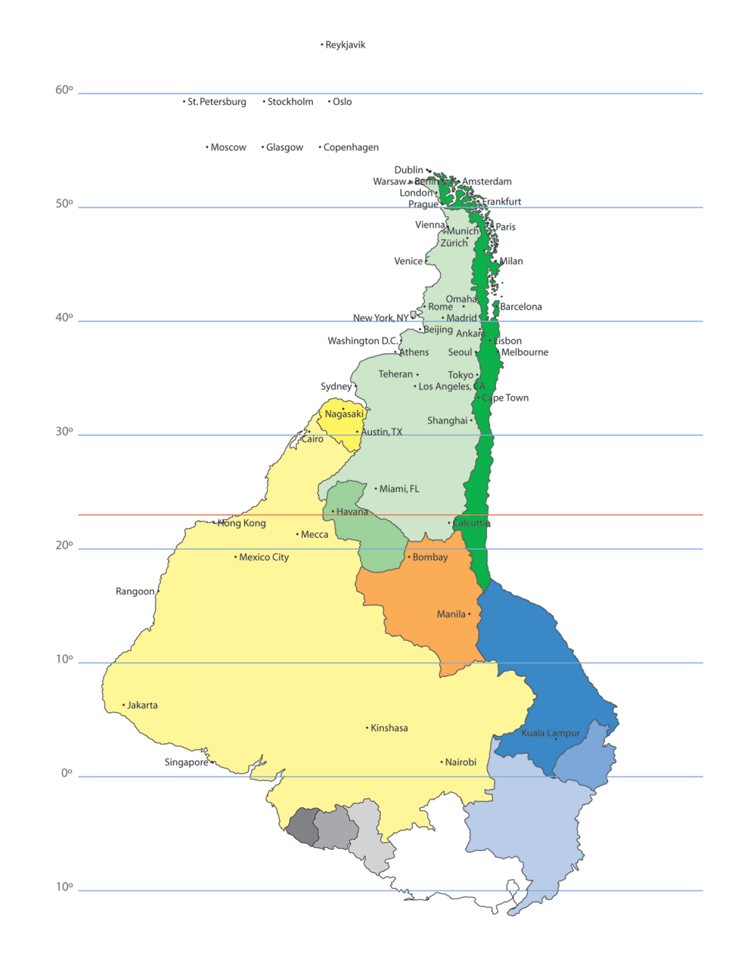 Cities of the World, if they were in South America Infographic