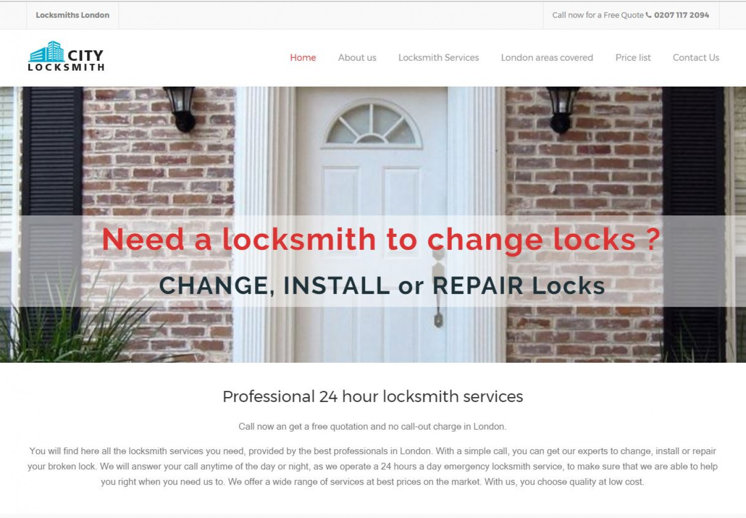 City Locksmith in London Infographic