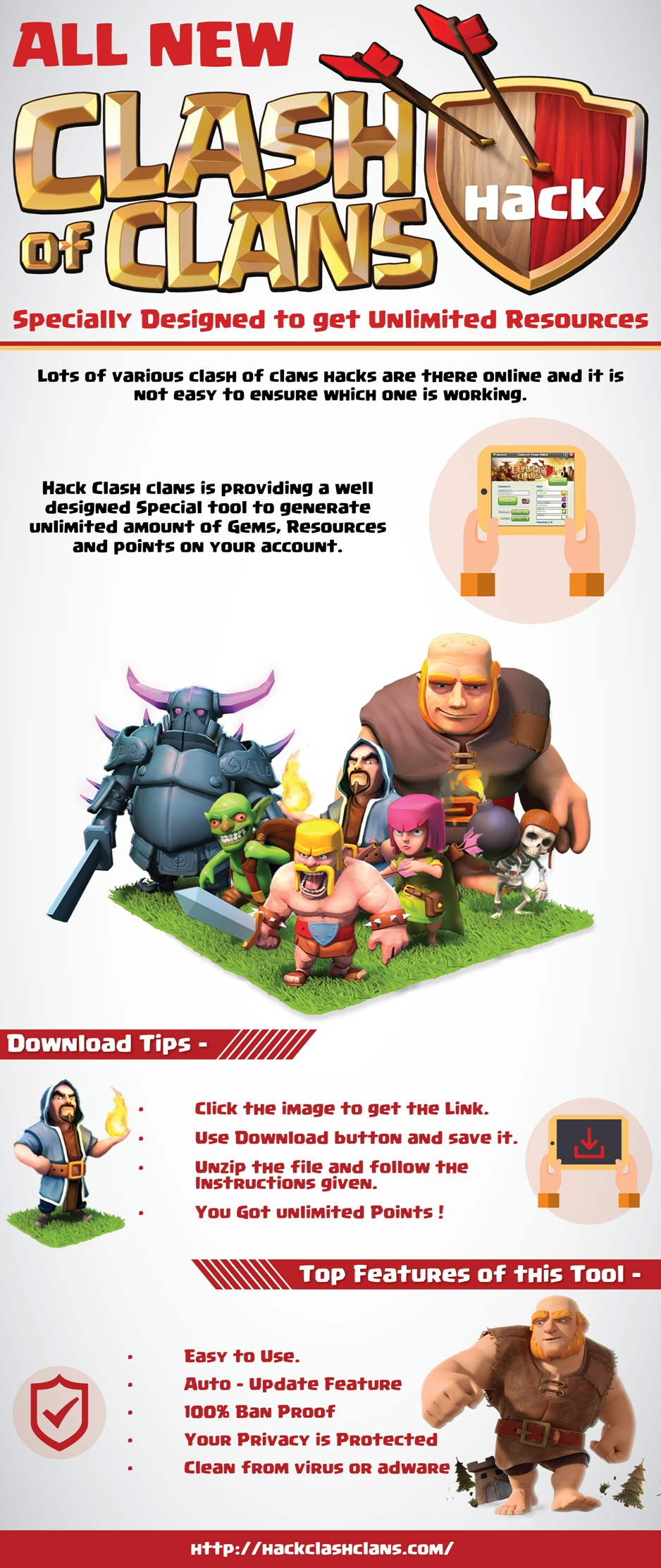 Clash of clans free gems | Visual ly