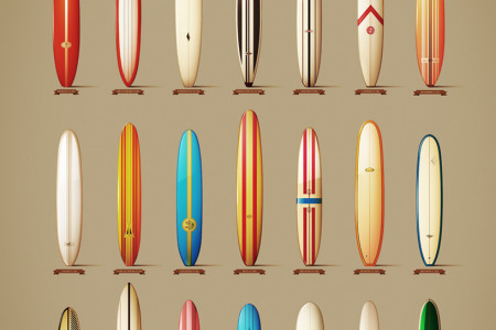 classics longboards from the 60´s Infographic