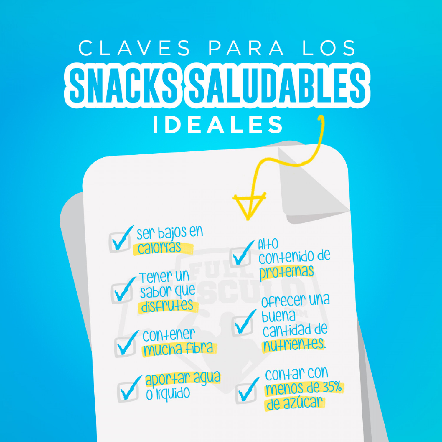 Claves para unos snacks saludables ideales Infographic